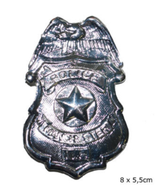 Badge, plastic