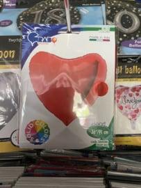 Folie ballon rood hart geleverd 91 cm met helium in Berkel en Rodenrijs. Bergschenhoek bleiswijk pijnacker of afhalen in de winkel