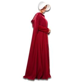Handmaid's Tale cape (mt M/L) Kostuum Handmaid's Tale cape, maat M/L. Kostuum bestaat uit: cape met capuchon en kapje. Let op: dit kostuum bevat alleen de cape!