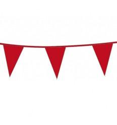 Vlaggenlijn circa 10 meter rood plus minus