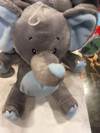 knuffel olifant Blauw / Grijs