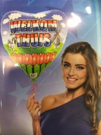 Welkom thuis follie balon 1 stuk geleverd zonder helium