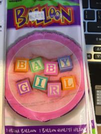 Baby girl Wordt geleverd zonder helium