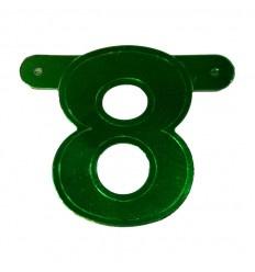 Banner cijfer 8 Groen 1 pcs