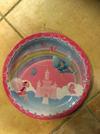 Prinsesje borden 8 stuks