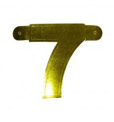 Banner cijfer 7 goud 1 pcs