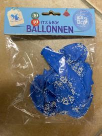 Ballonnen its a boy 10 stuks 30 cm