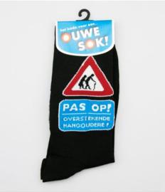 sokken pas op overstekende hangoudere