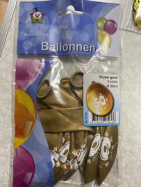 Gouden ballonnen 50 8 stuksoo