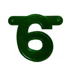 Banner cijfer 6 Groen 1 pcs