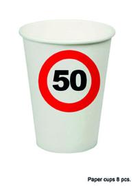 50 jaar: 8 paper cups