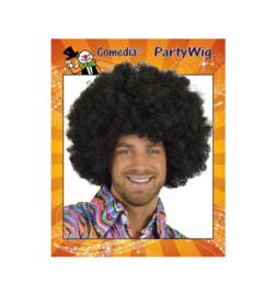 Afro pruik super zwart