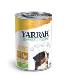 Yarrah Biologisch Natvoer voor Honden Chunks met Biokip