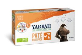 Yarrah Biologisch Natvoer voor Honden Multipack Paté