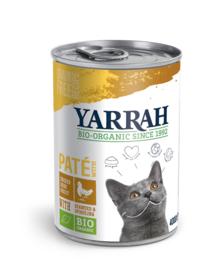 Yarrah Biologisch Natvoer voor Katten Paté met Biokip