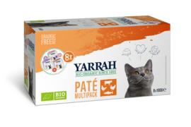 Yarrah Biologisch Natvoer voor Katten Multipack Paté