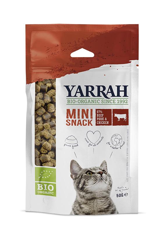 Yarrah Biologische Minisnacks voor Katten