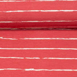 100 CM TRICOT pencil stripes red