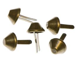 tasvoetje bronskleuring  15 mm