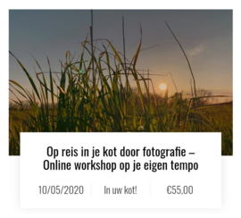 IN JE KOT WORKSHOPS: Online workshops in Corona-tijden