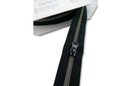 7,50€ p/m - Zwart zilver blauw- Rits op de meter