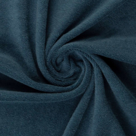 Rekbare badstof (spons) Jeansblauw