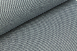 Boordstof  strips navy/white