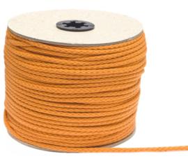 Katoenen koord van 5 mm dik oranje