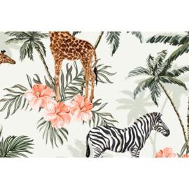 Megan Blue Digital Zebra and Giraffe
