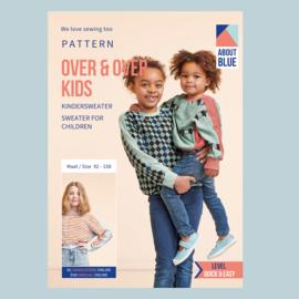 Papieren patroon Over & Over KIDS   Sweater die op zijn strepen staat   maat 92-158
