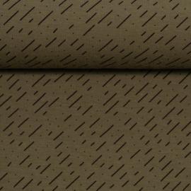 diagonal stripes - khaki