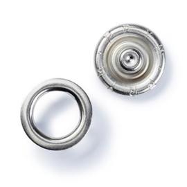 Jersey  drukknopen zilver 10 mm