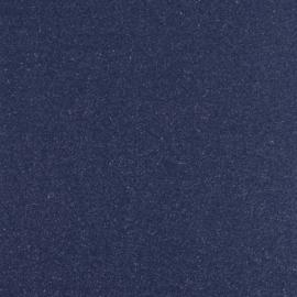 Glitter donkerblauw met zilver