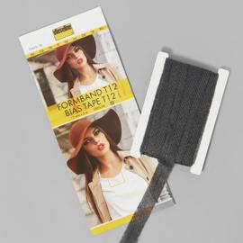 Vlieseline vormband zwart 5meter