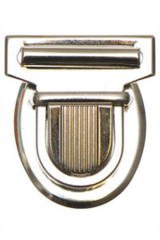 tassluiting zilverkleurig