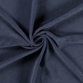 Stretch badstof indigo (spons)