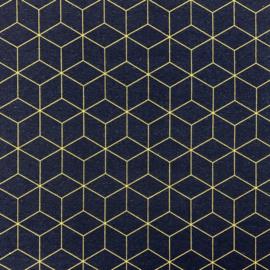 Canvas -ottoman blauw geel vormen