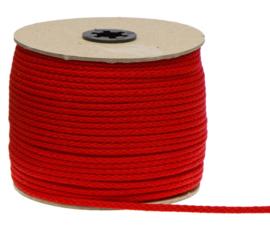 Katoenen koord van 5 mm dik rood