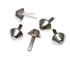 tasvoetje zilver 15 mm