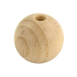 Houten kraal 30mm (stk)*