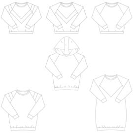 Bel'Etoile - Isa sweater, jurk en top voor dames en tieners – papieren naaipatroon