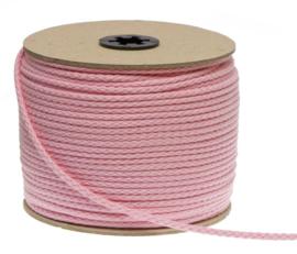Katoenen koord van 5 mm dik roze