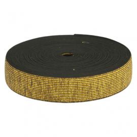 ELASTIEK 40MM GEKLEURD  goud ( zwart)