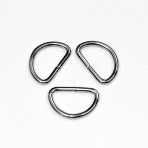 D-ring zilver 25 mm