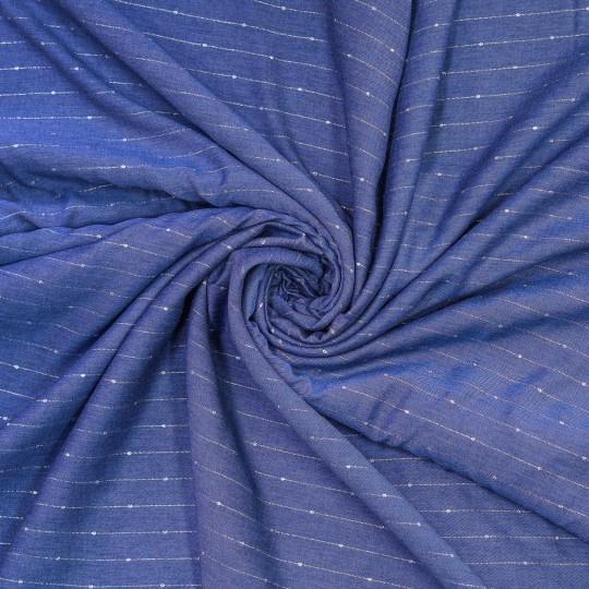 WOVEN VI/LU MELANGE WITH LUREX blue