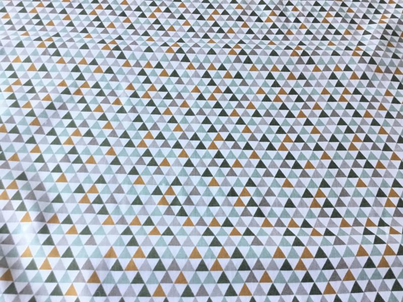 Driehoek oker/mint/grijs