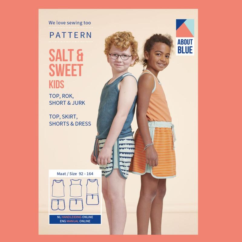 Papieren patroon SALT & SWEET KIDS | Zomergoed voor jongens en meisjes | maat 92-164