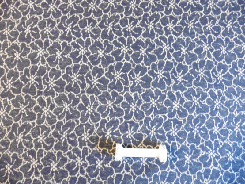 Tricot: Jaquard: Bloem op jeansblauw