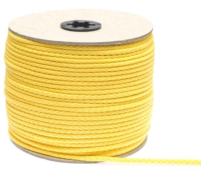 Katoenen koord van 5 mm dik geel