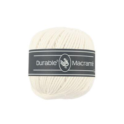 Durable Macramé 100g - 90m gebroken wit.